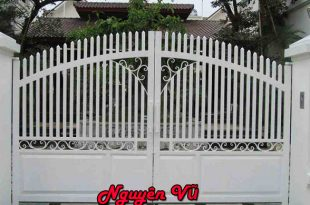 làm cửa sắt đẹp cửa cổng 2 cánh