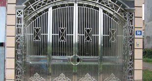 làm cửa sắt cửa cổng sắt 4 cánh