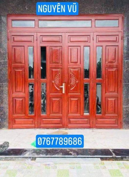 Dịch vụ làm cửa sắt ,cửa sắt giả gỗ