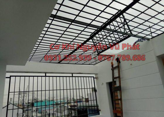 Thi công khung sắt bảo vệ sân thượng tại Tân Uyên