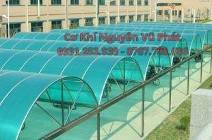 Thi công mái poly mái nhựa lấy sáng tại Dĩ An