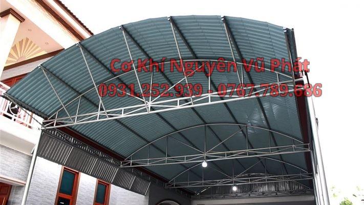 Thi công mái tôn sân thượng mái vòm tại Quận 7